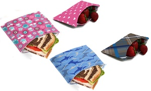 Reusable Sandwich And Snack Packs (4-pack)