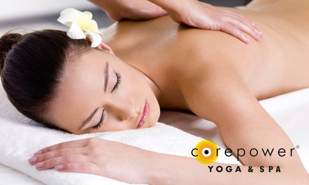 75-Minute Rejuvenation Massage, 75-Minute Facial, or Both at CorePower Yoga & Spa (Up to 51% Off)
