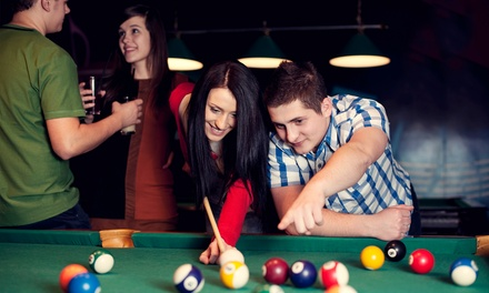 Pool plus Burgers and Fries for 2, 4, or Up to 10 People at Gold Crown Billiards (Up to 53% Off)