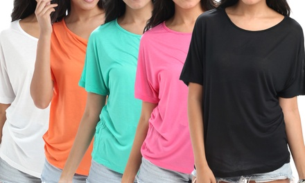 Women's Round Neck Basic Gypsy Tee (5-Pack)