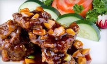 Chinese Food, Sushi, and Drinks for Dinner at for Two or Four at Dragonfly Mandarin (52% Off)