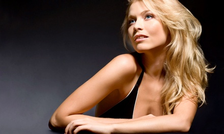 Haircut Package with Optional Partial Highlights or Single-Process Color at The Salon at Bridgewater (Up to 55% Off)