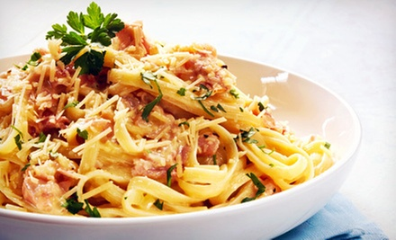 $14 for an Italian Meal with Sides or Soups and Fountain Drinks for Two at Gusti Italian Grill (Up to $29.30 Value)