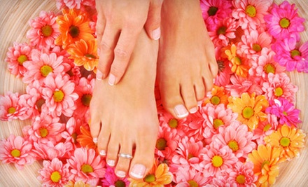 One or Two Mani-Pedis from Juli Lisicki at Skilled Hands Hair Studio in Royalton (Up to 55% Off)