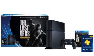 Ps4 500gb Game System With The Last Of Us: Remastered, 12-month Psn Plus Card, And $20 In Savings