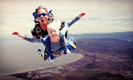 Tandem Skydiving with a T-Shirt for One or Two at Skydive Coastal California (Up to 51% Off)