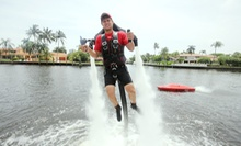 30- or 45-Minute JetLev Aqua-Jetpack Ride with a Boat Ride from ZainoJet (Up to 53% Off)