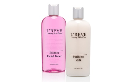 L'Reve Essential Facial Toner and Purifying Milk Cleanser (8.5 Fl. Oz. Each)