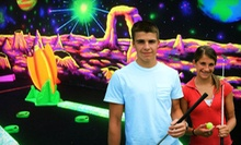 18 Holes of Black-Light Mini Golf for Four, Six, or Eight at Space Golf (Up to 51% Off)