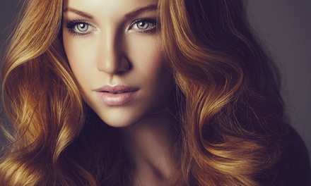 Haircut and Style with Choice of Partial or Full Highlights at B-CC Total Body Salon (59% Off)