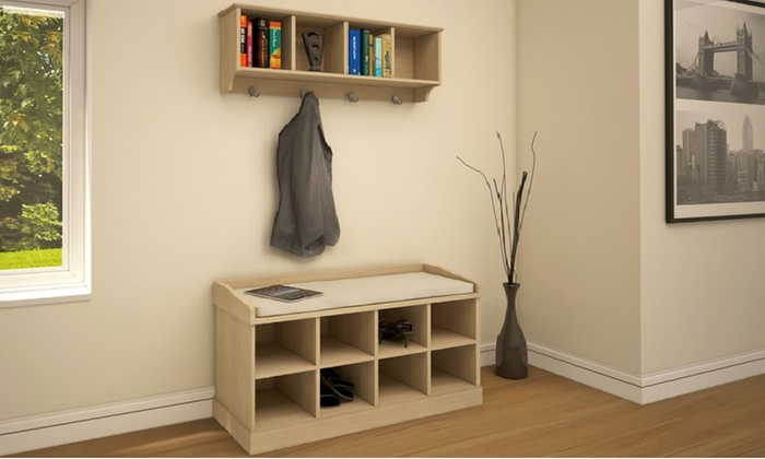 Groupon goods global gmbh kempton hallway storage furniture free delivery up to - Best choices for hallway furniture ...