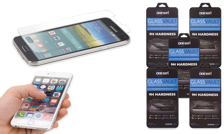 Acesori GlassVault Tempered-Glass Screen Protector for iPhone 5/5s/5c, 6, 6 Plus, Galaxy S4, S5, or Note 4