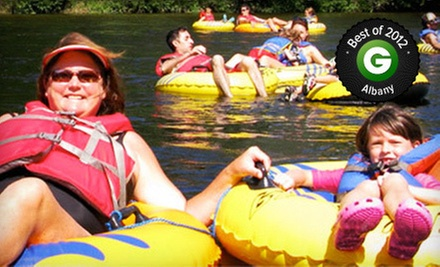 Two-Hour Lazy River Tubing Trip for Two or Four with Concessions from Tubby Tubes (Up to 56% Off)