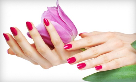 One or Three Shellac Manicures and Paraffin Treatments at Growing Hands Salon & Spa (Up to 59% Off)
