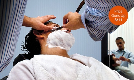 Signature Shave or Signature Haircut or Both with $20 Gift Certificate at eShave (Up to 49% Off)