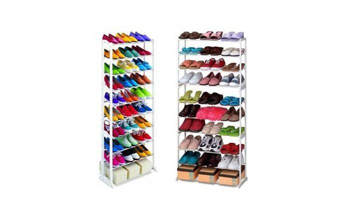 Groupon Goods Global GmbH: Scarpiera scaffale per 30 o 40 paia di scarpe da 14,99 €
