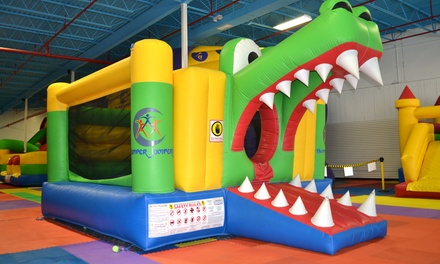 Open-Play for One, Two, or Four, or Birthday Party for 10 to Bumper Jumpers Indoor Playground (Up to 53% Off)