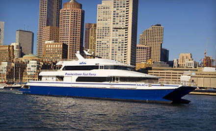 $55 for a Roundtrip Ticket to the Provincetown Fast Ferry from Boston Harbor Cruises ($83 Value)
