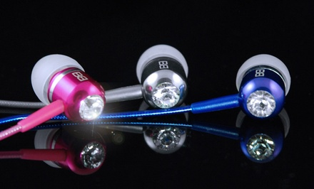 BassBuds High-Performance In-Ear Headphones with Swarovski Elements