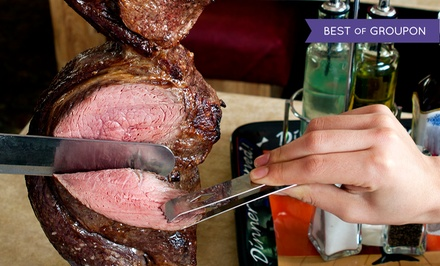 Brazilian Meal with Bottles of Wine for Two or Four at Red & Green Brazilian Steakhouse (Up to 44% Off)
