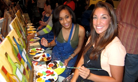 Two- or Three-Hour Paint and Sip Class for Two or Four at Pinot's Palette (Up to 51% Off)