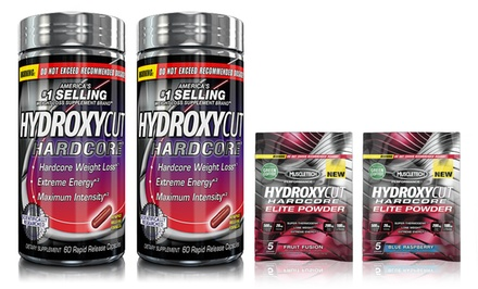 Buy 1 Get 1 Free: Hydroxycut Hardcore Diet Supplements. Includes Two Free Hydroxycut Thermal Powder Trial Packs.