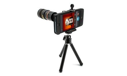 Objectiva de zoom com tripé para iPhone 5 ou 5S por 19,90€