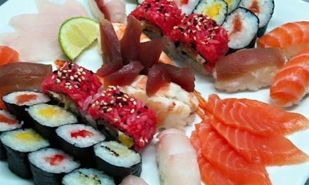 Splash — Santarém: menu japonês para 2 ou 4 com combinado de sushi e sashimi, bebidas, sobremesas e mais desde 34,90€