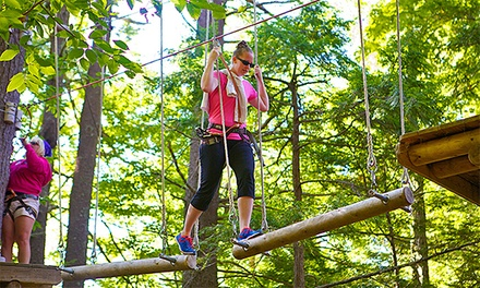 Entry to Aerial Treetop Adventure Course for Two or Four at Gunstock Mountain Resort (Up to 41% Off)