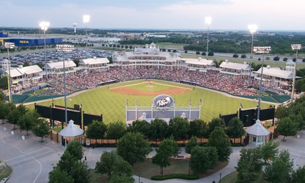 $15 for One Ticket to a Frisco RoughRiders Game Plus a Hotdog, Soda and Hat at Dr Pepper Ballpark  ($45.13 Value)