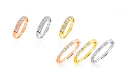 Anel em ouro de 10 kt com diamantes disponível em 3 cores diferentes desde 109,99€