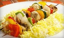 Authentic Cuisine for Two or Four for Lunch or Dinner at Afghan Kabob Fusion-Choopan Grill (Up to 56% Off)