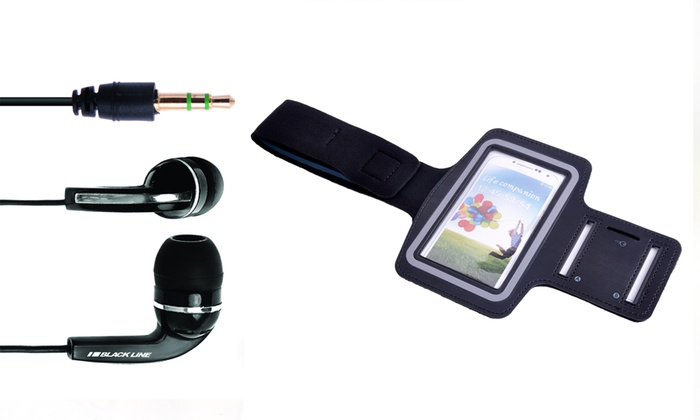 Braçadeira de desporto para smartphone por 8,99€ ou com auriculares por 14,99€