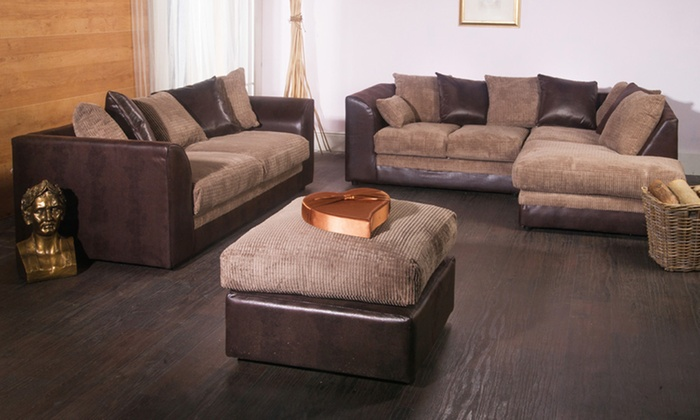Milo ThreeSeat Sofa or Corner Sofa from £219 With Free Delivery Up
