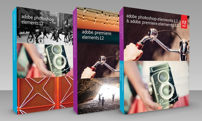 Adobe Premiere Elements 12, Photoshop Elements 12, or Both from $69.99-$99.