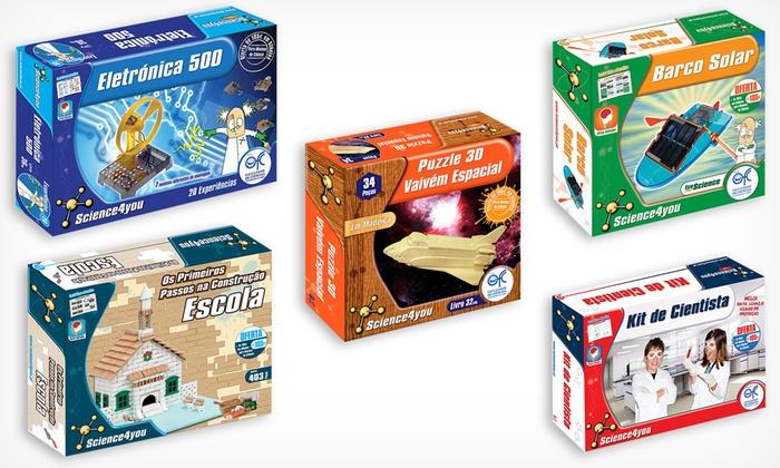 *Prendas de Natal* Pack de 5 brinquedos educativos Science4you por 49,90€ (em vez de 91,95€)