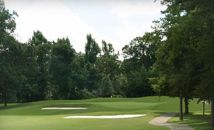 18 Holes of Golf, Cart Rental, and Driving-Range Access for One or Four at Forest Oaks Country Club (Up to 58% Off)