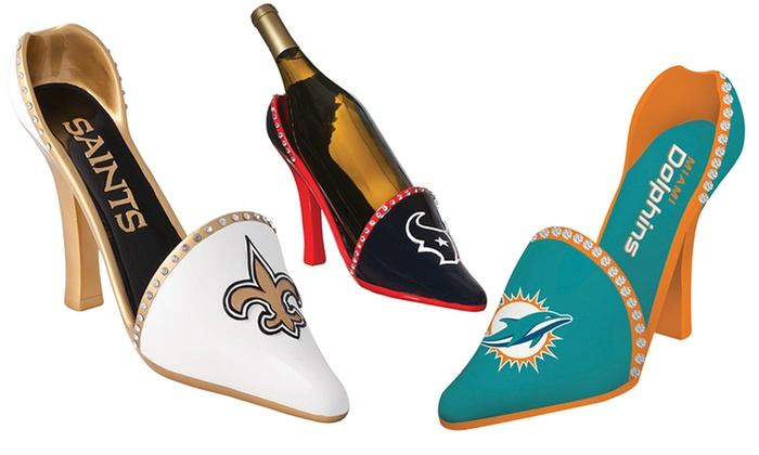 NFL Shoe Wine-Bottle Holder