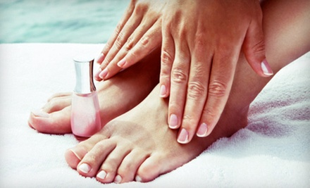 $27 for a Spa Mani-Pedi at Red Carpet Salon Services ($55 Value)