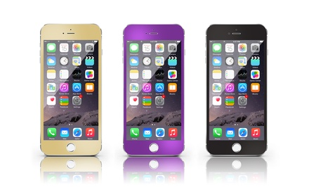 Metallic Tempered-Glass Screen Protector for Apple iPhone 6 or 6 Plus