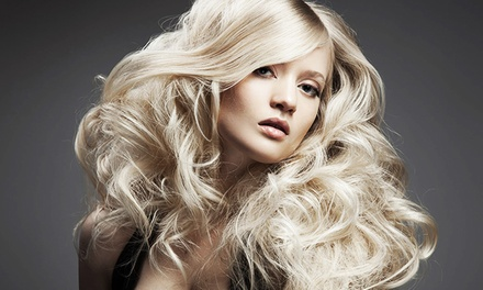 $78 for Haircut, Style, and Full Color or Highlights at Mecca Salon ($160 Value)