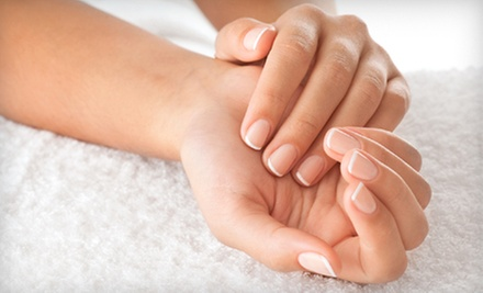 One Express Mani-Pedi with Optional Swedish Massage, or Two Express Mani-Pedis at Serenity Day Spa (Up to 65% Off)