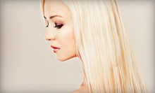 "Haircut and Conditioning Treatment with Option for Full Highlights at Salon La ""T"" Da (Up to 65% Off)"