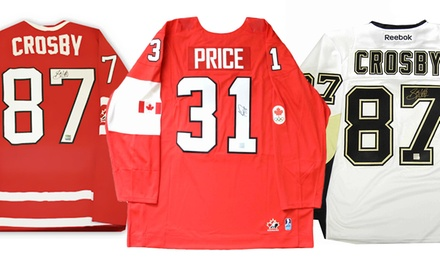 Carey Price or Sidney Crosby Signed Jerseys from $649.99-$699.99