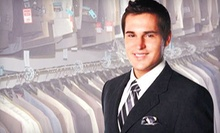 Mens Suits, Slacks, Shirts, and Ties at Warehouse Suit Sale (Half Off). Two Options Available.
