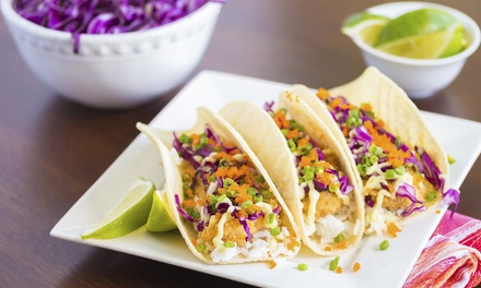 $9 for $14 Worth of Fish and Shrimp Tacos at Best Fish Taco In Ensenada