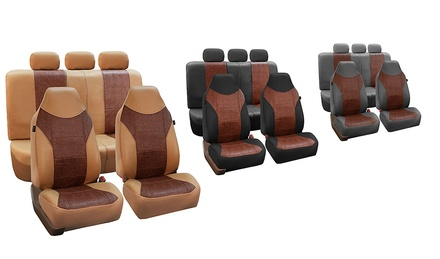 Faux Leather Seat Cover Set