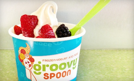 $5 for $10 Worth of Frozen Yogurt, Sandwiches, and Dessert at Groovy Spoon