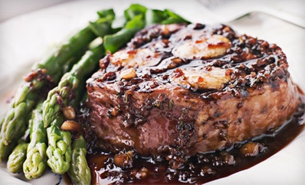 American Cuisine for Two or Four with Optional Bottle of Wine at Black Angus Grille (Up to 61% Off)