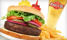 Burgers and Beers for Two or a Family Meal for Four at Route 22 Restaurant and Bar (Up to 55% Off)